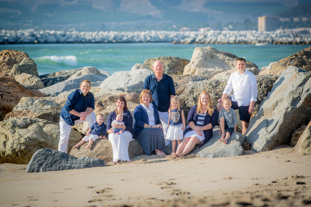 Family at Ventura Beach