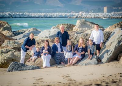 Family at Ventura Beach